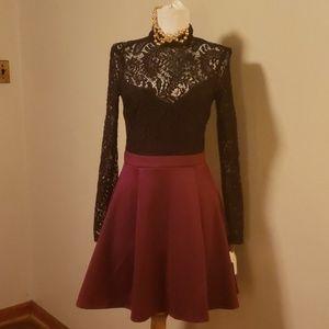Beautiful B Darlin lace skater dress. Size 3/4